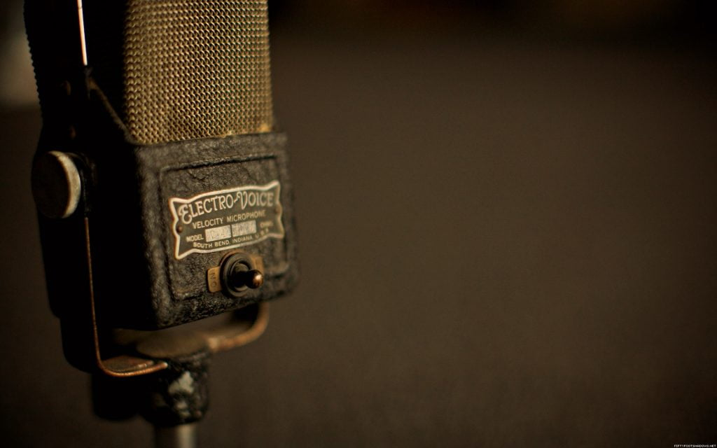 microfone-electro voice