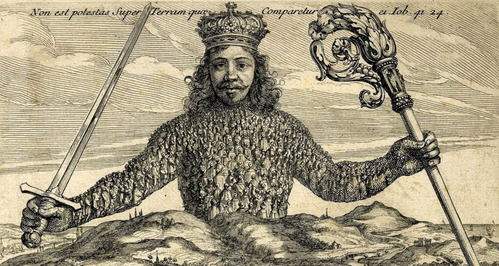 O Leviatã - Capa original do livro