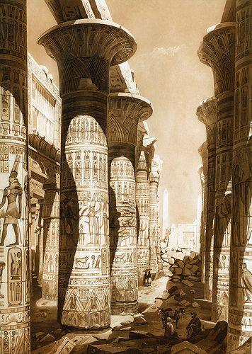 Colunas do Templo de Amon-Ra em Karnak - Egito