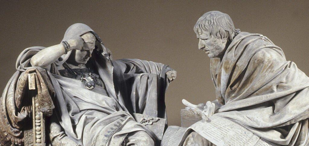 Estoicismo - Nero e Sêneca - Obra de Eduardo Barron, Espanha
