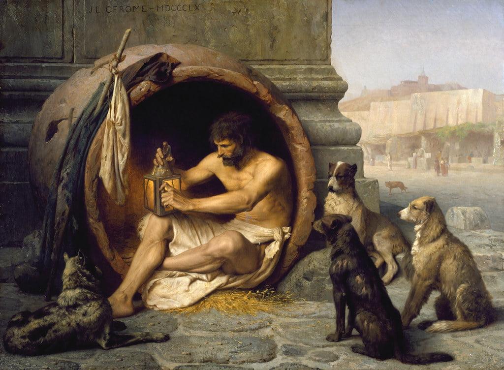 """""""Jean-Leon Gerome - Diogenes [1860]"""""""